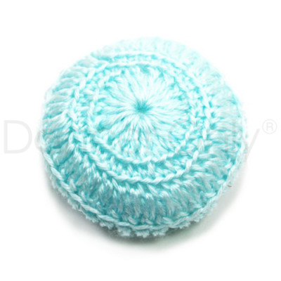 BABY BLUE CROCHETED BUN COVER by Dancer Only
