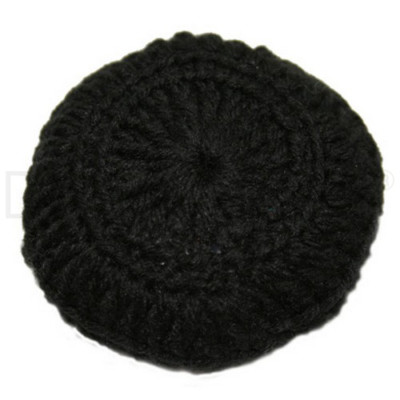 BLACK CROCHETED BUN COVER by Dancer Only