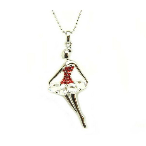 CRYSTAL TUTU BALLERINA NECKLACE by ADS
