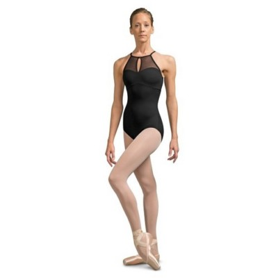 ADULT EMERY EMBROIDERED MESH BACK HIGH NECK LEOTARD by Bloch