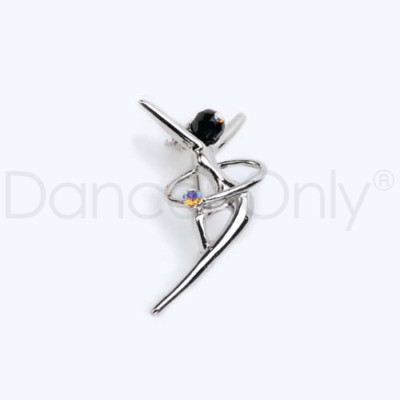 ONYX DANCER PIN WITH RHINESTONE by Dancer Only