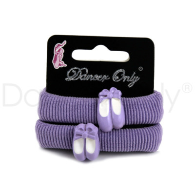 LAVENDER PRETTY ON POINTE PONYTAIL HOLDERS by Dancer Only