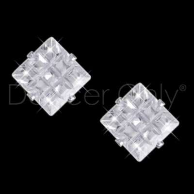 ROYAL DIAMOND COLLECTION SQUARE DIAMOND CUT EARRINGS by Dancer Only