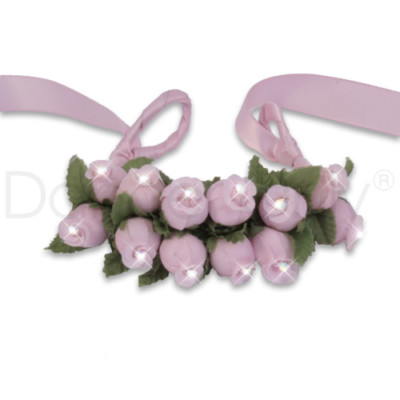 BABY PINK FLOWER RHINESTONE TIARAS by Dancer Only