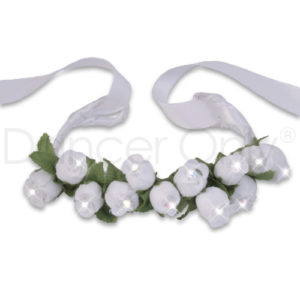 WHITE FLOWER RHINESTONE TIARAS by Dancer Only 1