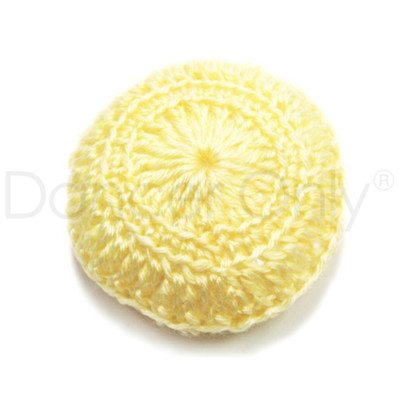 BABY YELLOW CROCHETED BUN COVER by Dancer Only