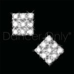 ROYAL DIAMOND COLLECTION PAVE PRINCESS SQUARE EARRINGS-CLIP ON by Dancer Only