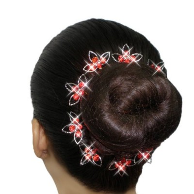 BLOOMING SPARKLE RHINESTONE BOBBY PINS by Dancer Only