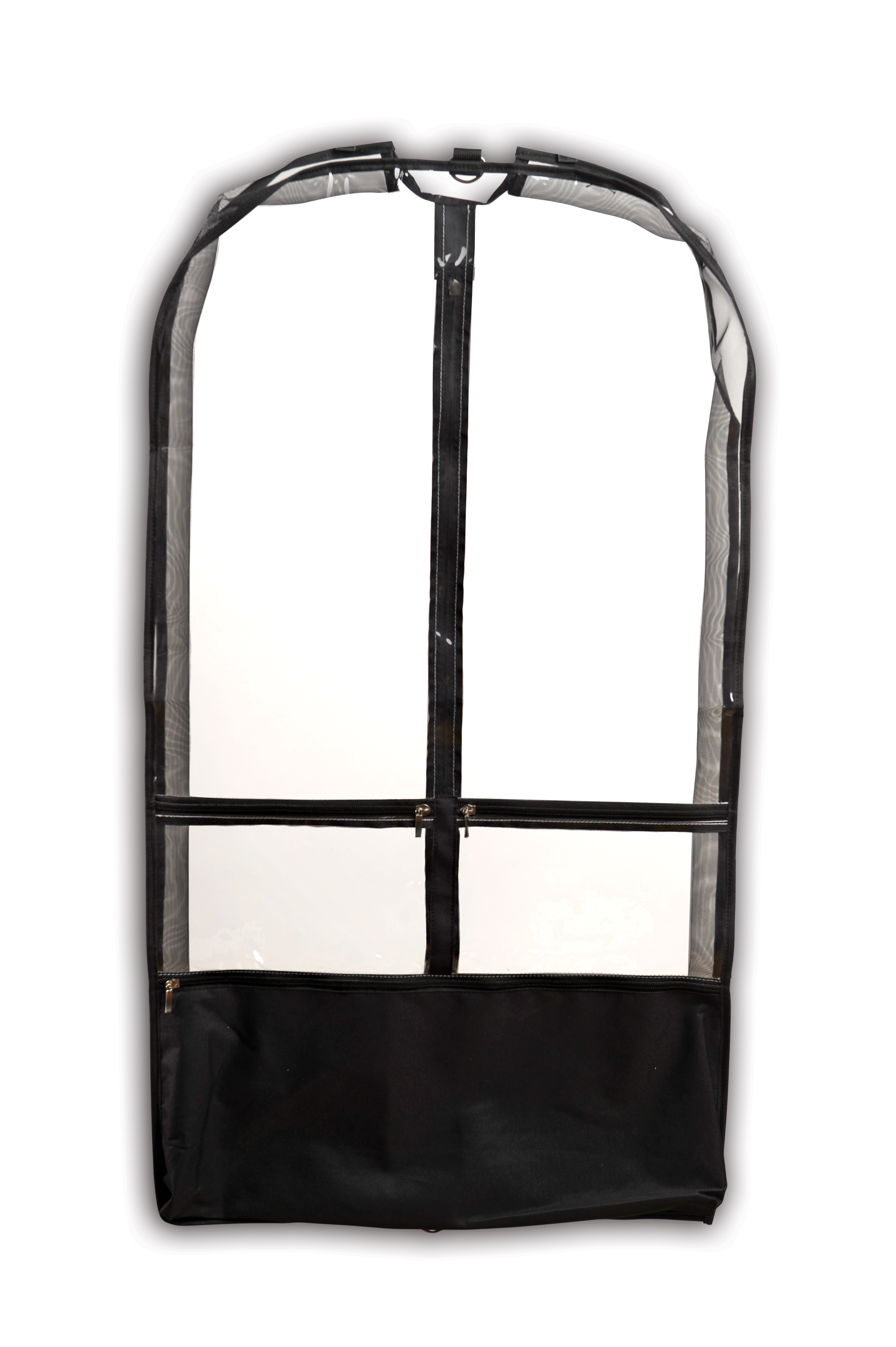 Clear Competition Garment Bag w/ Black Trim