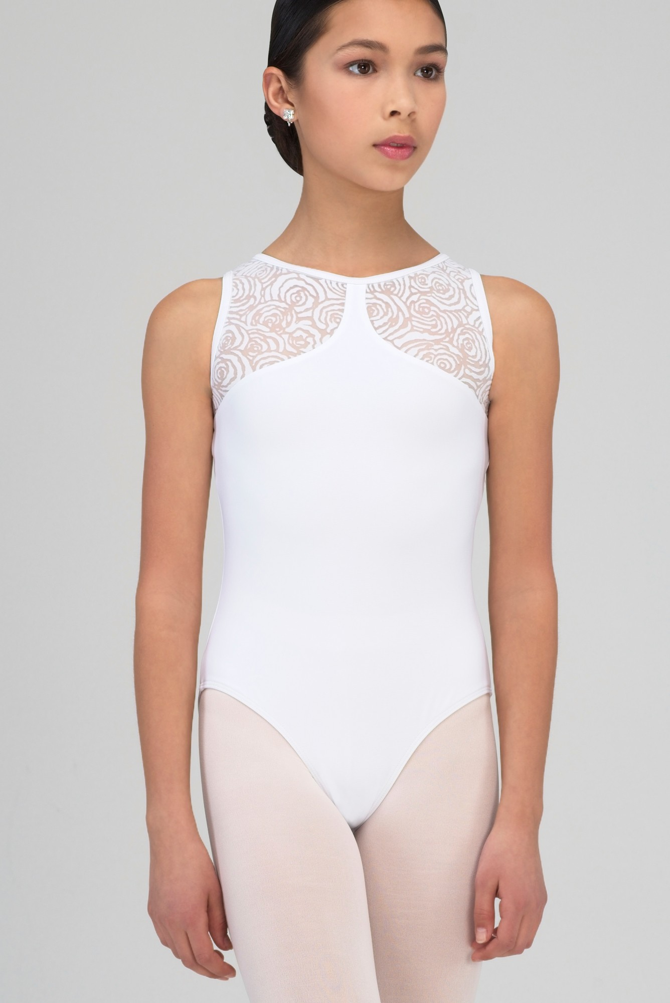 Noelie Child  Open Back Leotard