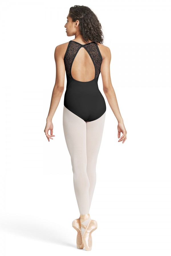 Mesh Back Camisole Leotard By Mirella
