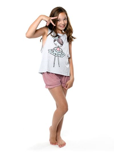 Tiny Dancer Youth Low Back Tank By Sugar & Bruno
