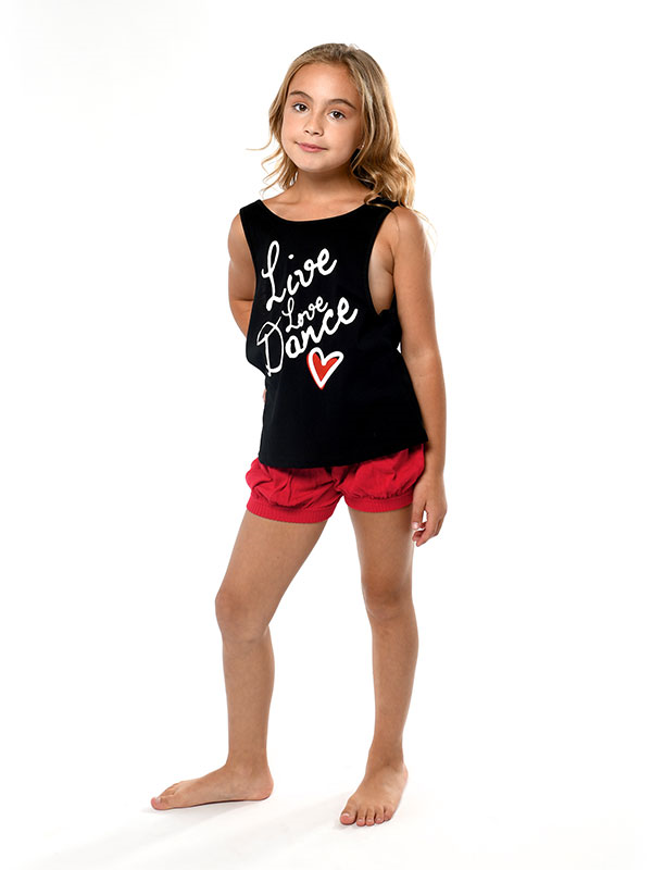 Live Love Dance Youth Low Back Tank