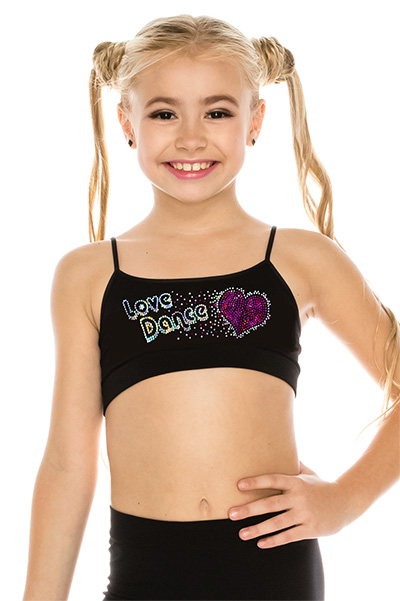 KIDS LOVE DANCE SEQUIN BRA CAMI BY IDEA