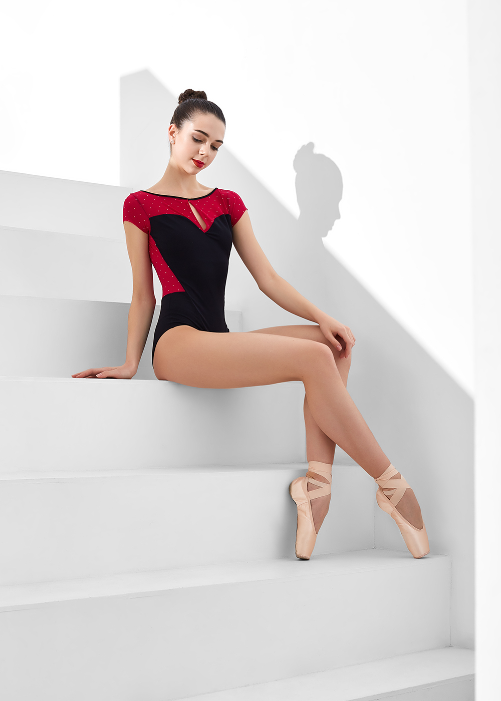 ANTONINA, CAP SLEEVE LEOTARD BY NIKOLAY